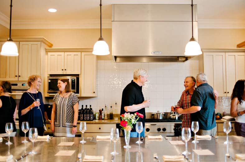 mingle with your group while we attend to the details of your Hosted House Rental