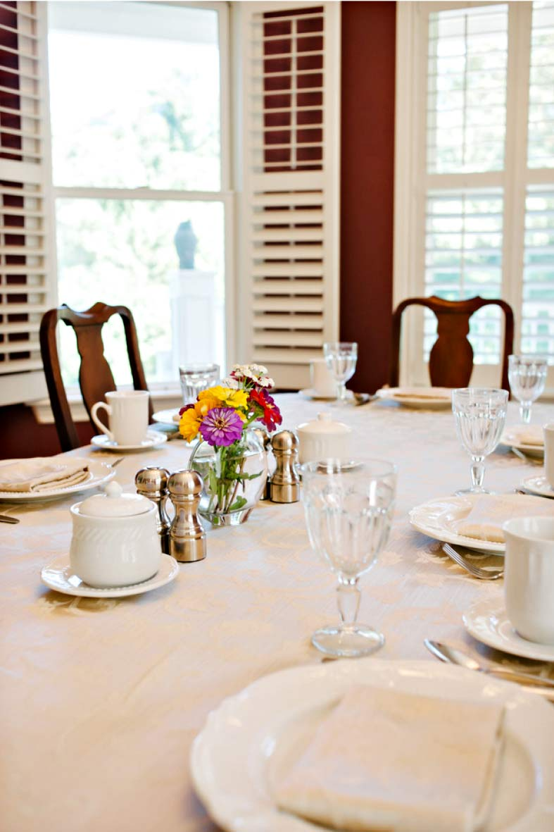 We will gladly serve two to fourteen guests at our table.