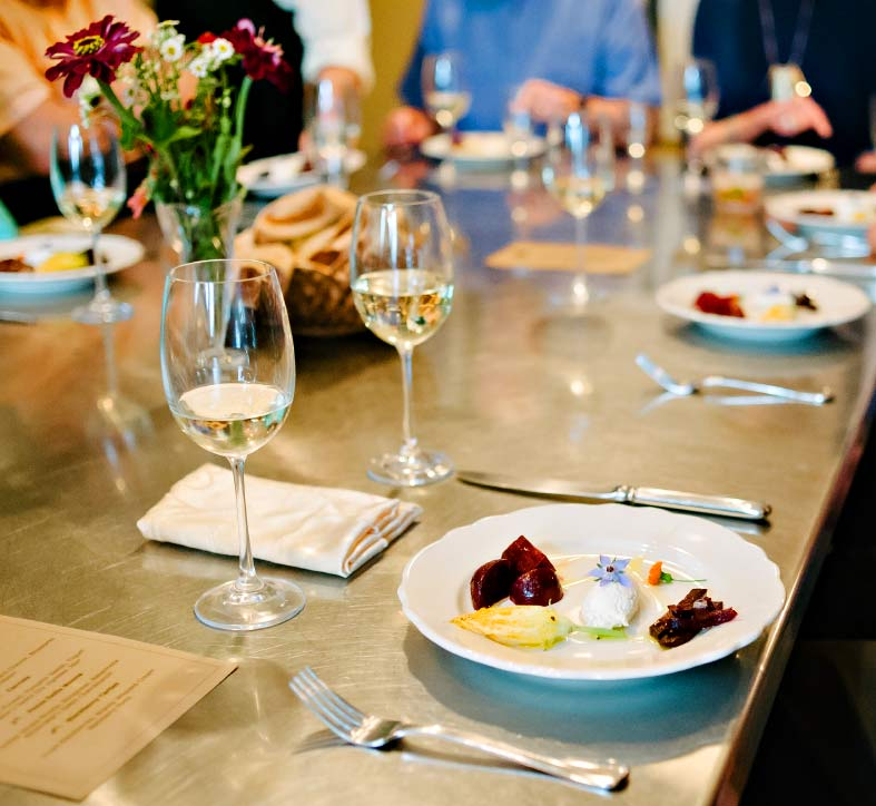 Elegant dinner options and wine selections with great service